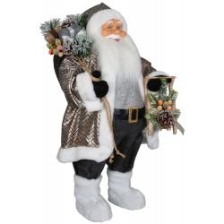 Père noël géant 60cm Ruben Figurine pour décoration de noel et vitrine