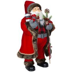 Père noël géant Bastien80 Figurine pour décoration de noel et vitrine