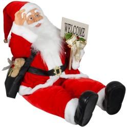 Automate Père Noël 80 cm jambes flexibles