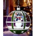 Lanterne Led de Noël avec fontaine à neige soufflante 35cm