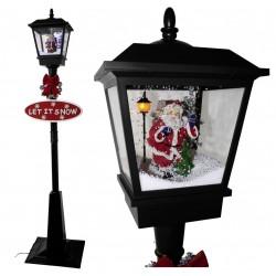 des lampadaires et lampes led avec fontaines neiges pour d corations de no l le p re no l g ant. Black Bedroom Furniture Sets. Home Design Ideas