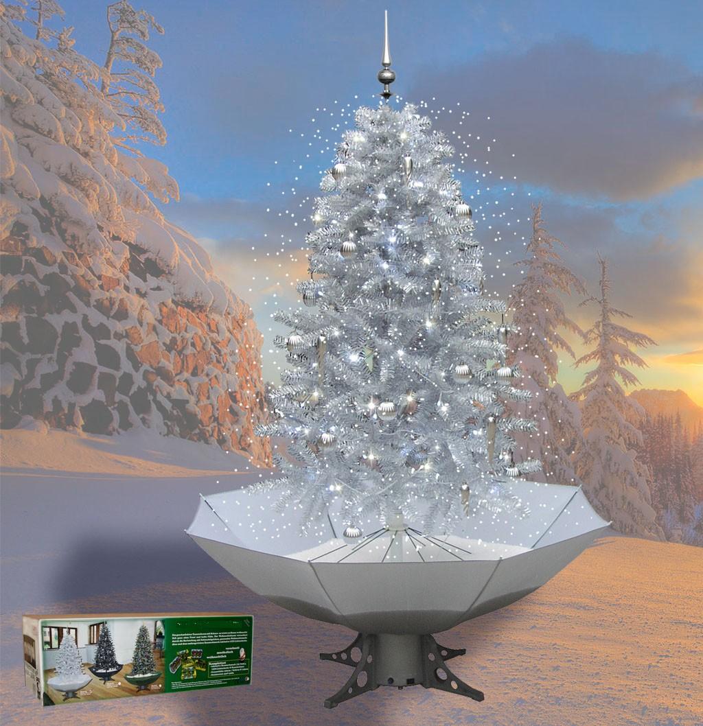 Sapin De Noel Avec Pied sapin de noël avec neige tombante en chute pour décoration de noël